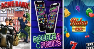 ACME BANK - VIDEO BAR - DOUBLE FRUITS: 3 New Slots Now Available for the Online Gaming!