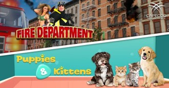 FIRE DEPARTMENT - PUPPIES & KITTENS - Capecod Gaming launches 2 new Slots!