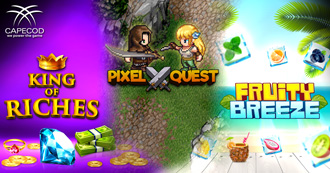 KING OF RICHES - PIXEL QUEST - FRUITY BREEZE: 3 New Slots Now Available for the Online Gaming!